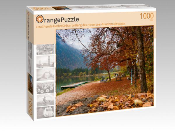 """Puzzle Motiv """"Leuchtende Herbstfarben entlang des Hinterseer-Rundwanderweges"""" - Puzzle-Schachtel zu 1000 Teile Puzzle"""