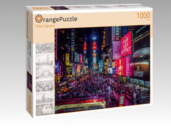 """Puzzle Motiv """"Time Square"""" - Puzzle-Schachtel zu 1000 Teile Puzzle"""