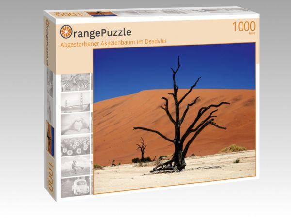 """Puzzle Motiv """"Abgestorbener Akazienbaum im Deadvlei"""" - Puzzle-Schachtel zu 1000 Teile Puzzle"""