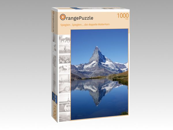 """Puzzle Motiv """"Spieglein , Spieglein.....das doppelte Matterhorn"""" - Puzzle-Schachtel zu 1000 Teile Puzzle"""