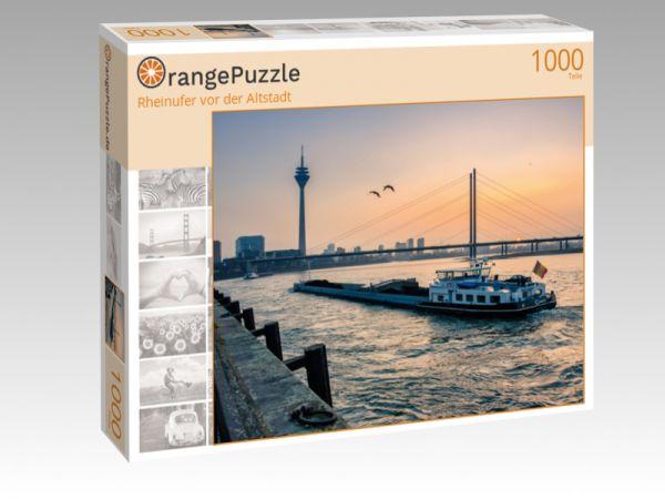 """Puzzle Motiv """"Rheinufer vor der Altstadt"""" - Puzzle-Schachtel zu 1000 Teile Puzzle"""