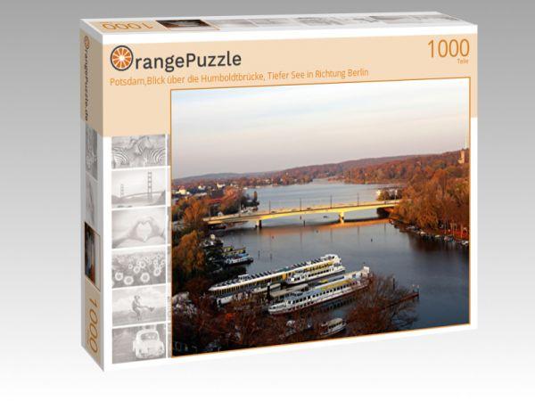 """Puzzle Motiv """"Potsdam,Blick über die Humboldtbrücke, Tiefer See in Richtung Berlin"""" - Puzzle-Schachtel zu 1000 Teile Puzzle"""