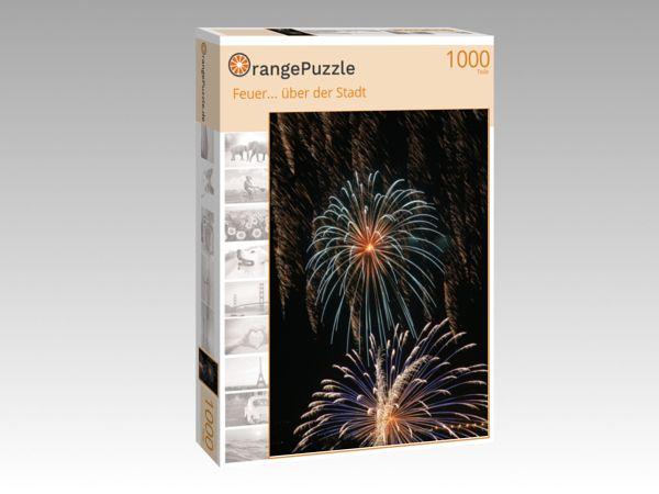 """Puzzle Motiv """"Feuer... über der Stadt"""" - Puzzle-Schachtel zu 1000 Teile Puzzle"""