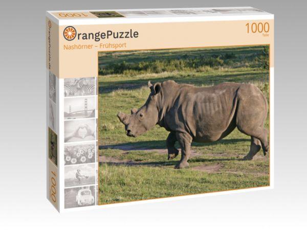 """Puzzle Motiv """"Nashörner – Frühsport"""" - Puzzle-Schachtel zu 1000 Teile Puzzle"""