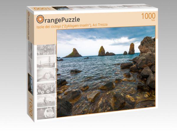 """Puzzle Motiv """"Isole dei ciclopi (""""Zyklopen-Inseln""""), Aci Trezza"""" - Puzzle-Schachtel zu 1000 Teile Puzzle"""