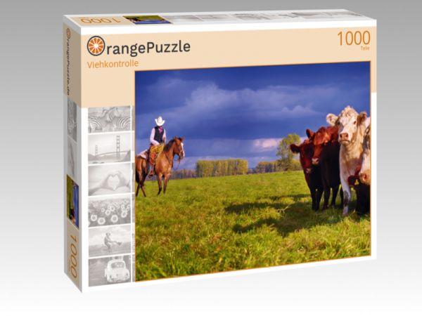 """Puzzle Motiv """"Viehkontrolle"""" - Puzzle-Schachtel zu 1000 Teile Puzzle"""