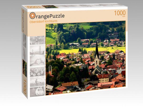 "Puzzle Motiv ""Oberstdorf Kirchturm"" - Puzzle-Schachtel zu 1000 Teile Puzzle"