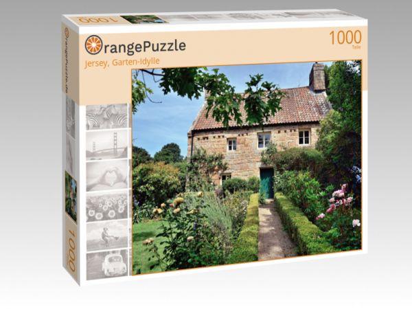 """Puzzle Motiv """"Jersey, Garten-Idylle"""" - Puzzle-Schachtel zu 1000 Teile Puzzle"""