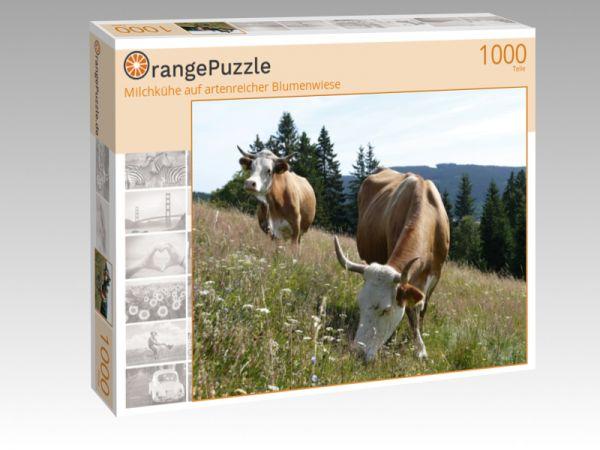"""Puzzle Motiv """"Milchkühe auf artenreicher Blumenwiese"""" - Puzzle-Schachtel zu 1000 Teile Puzzle"""