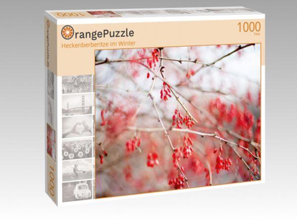 """Puzzle Motiv """"Heckenberberitze im Winter"""" - Puzzle-Schachtel zu 1000 Teile Puzzle"""