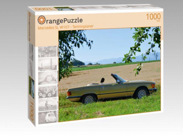 """Puzzle Motiv """"Mercedes SL W107 - Terminplaner"""" - Puzzle-Schachtel zu 1000 Teile Puzzle"""