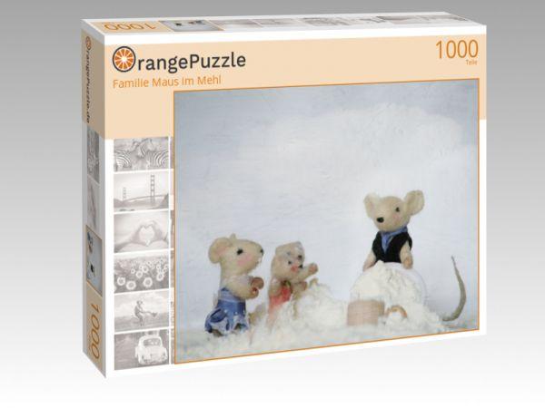 """Puzzle Motiv """"Familie Maus im Mehl"""" - Puzzle-Schachtel zu 1000 Teile Puzzle"""