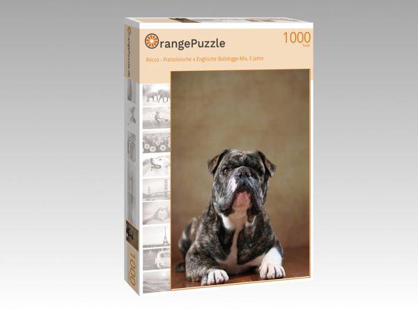 """Puzzle Motiv """"Rocco - Französische x Englische Bulldogge-Mix, 3 Jahre"""" - Puzzle-Schachtel zu 1000 Teile Puzzle"""
