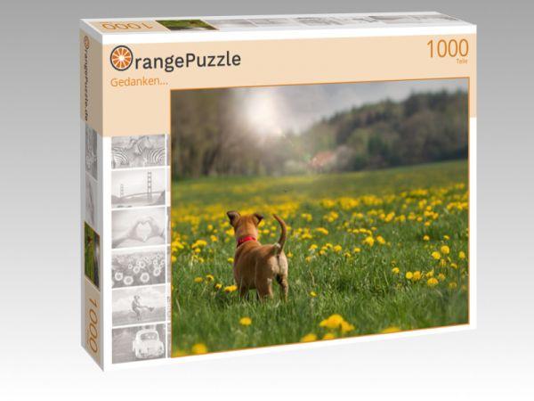 """Puzzle Motiv """"""""Gedanken..."""""""" - Puzzle-Schachtel zu 1000 Teile Puzzle"""