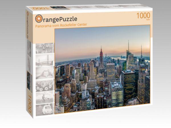 "Puzzle Motiv ""Panorama vom Rockefeller Center"" - Puzzle-Schachtel zu 1000 Teile Puzzle"