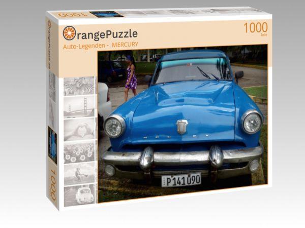 """Puzzle Motiv """"""""Auto-Legenden -  MERCURY"""""""" - Puzzle-Schachtel zu 1000 Teile Puzzle"""