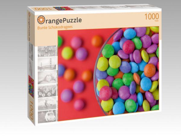 "Puzzle Motiv ""Bunte Schokodragees"" - Puzzle-Schachtel zu 1000 Teile Puzzle"