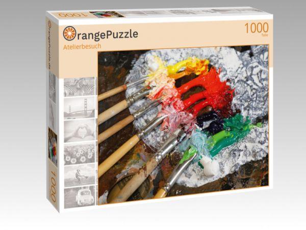 """Puzzle Motiv """"Atelierbesuch"""" - Puzzle-Schachtel zu 1000 Teile Puzzle"""