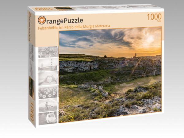 """Puzzle Motiv """"Felsenhöhle im Parco della Murgia Materana"""" - Puzzle-Schachtel zu 1000 Teile Puzzle"""