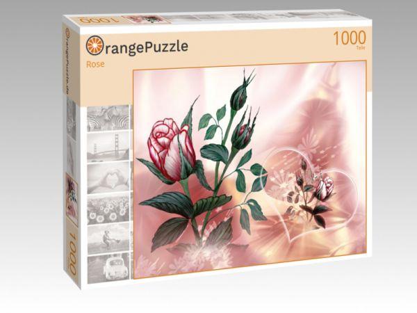 """Puzzle Motiv """"Rose"""" - Puzzle-Schachtel zu 1000 Teile Puzzle"""