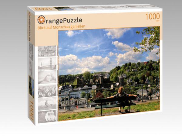 """Puzzle Motiv """"Blick auf Monschau genießen"""" - Puzzle-Schachtel zu 1000 Teile Puzzle"""