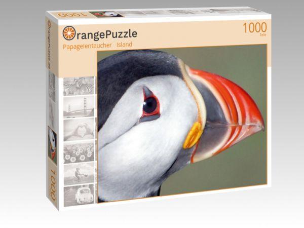 """Puzzle Motiv """"Papageientaucher   Island"""" - Puzzle-Schachtel zu 1000 Teile Puzzle"""