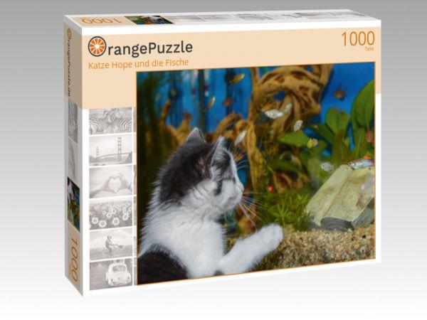 """Puzzle Motiv """"Katze Hope und die Fische"""" - Puzzle-Schachtel zu 1000 Teile Puzzle"""