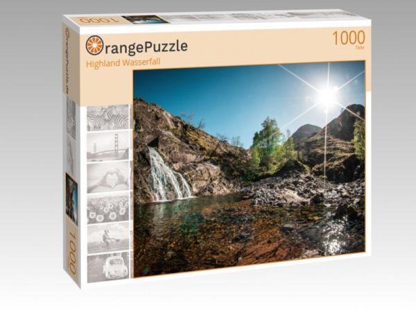 """Puzzle Motiv """"Highland Wasserfall"""" - Puzzle-Schachtel zu 1000 Teile Puzzle"""