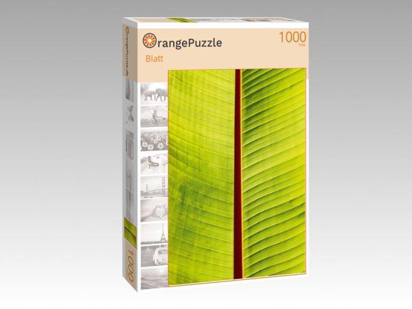"Puzzle Motiv ""Blatt"" - Puzzle-Schachtel zu 1000 Teile Puzzle"