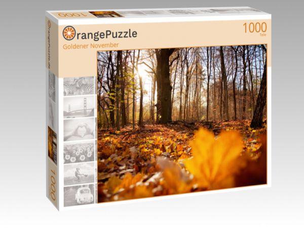 """Puzzle Motiv """"Goldener November"""" - Puzzle-Schachtel zu 1000 Teile Puzzle"""