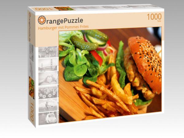 """Puzzle Motiv """"Hamburger mit Pommes Frites"""" - Puzzle-Schachtel zu 1000 Teile Puzzle"""
