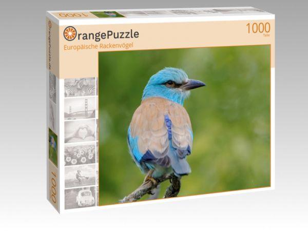 """Puzzle Motiv """"Europäische Rackenvögel"""" - Puzzle-Schachtel zu 1000 Teile Puzzle"""