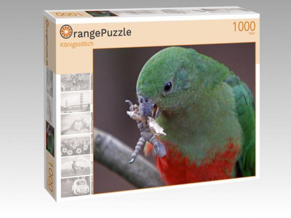 "Puzzle Motiv ""Königssittich"" - Puzzle-Schachtel zu 1000 Teile Puzzle"
