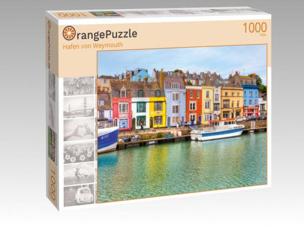 """Puzzle Motiv """"Hafen von Weymouth"""" - Puzzle-Schachtel zu 1000 Teile Puzzle"""