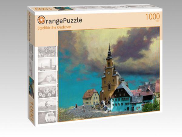 """Puzzle Motiv """"Stadtkirche Oederan"""" - Puzzle-Schachtel zu 1000 Teile Puzzle"""