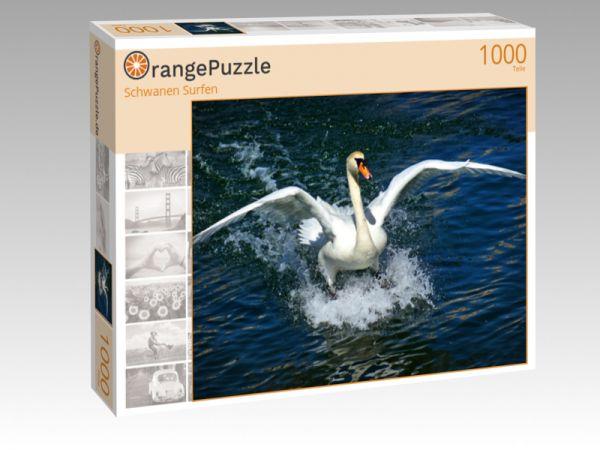 """Puzzle Motiv """"Schwanen Surfen"""" - Puzzle-Schachtel zu 1000 Teile Puzzle"""