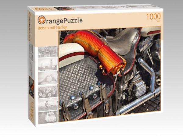 """Puzzle Motiv """"Reisen mit Harley"""" - Puzzle-Schachtel zu 1000 Teile Puzzle"""