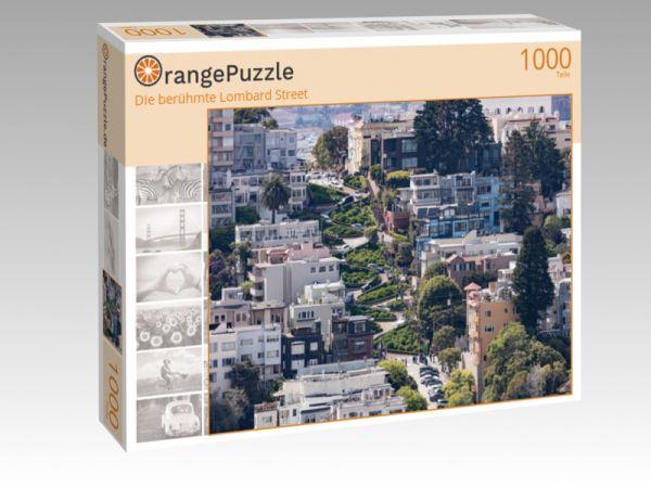 """Puzzle Motiv """"Die berühmte Lombard Street"""" - Puzzle-Schachtel zu 1000 Teile Puzzle"""