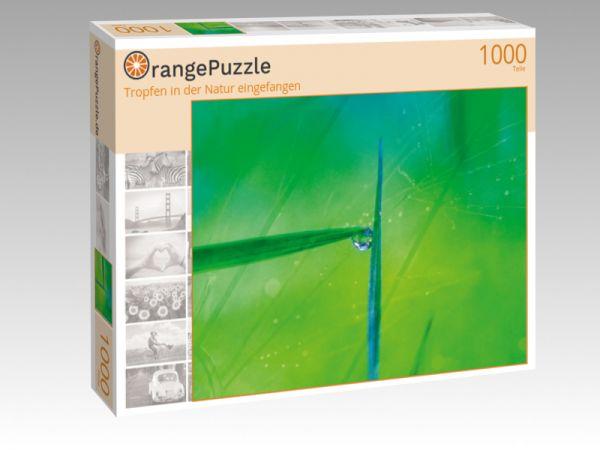 """Puzzle Motiv """"Tropfen in der Natur eingefangen"""" - Puzzle-Schachtel zu 1000 Teile Puzzle"""