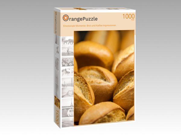 """Puzzle Motiv """"Emotionale Momente: Brot und Kaffee Impressionen"""" - Puzzle-Schachtel zu 1000 Teile Puzzle"""