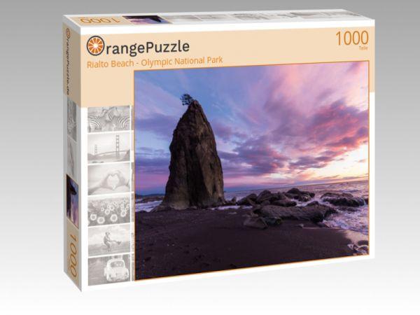 """Puzzle Motiv """"Rialto Beach - Olympic National Park"""" - Puzzle-Schachtel zu 1000 Teile Puzzle"""