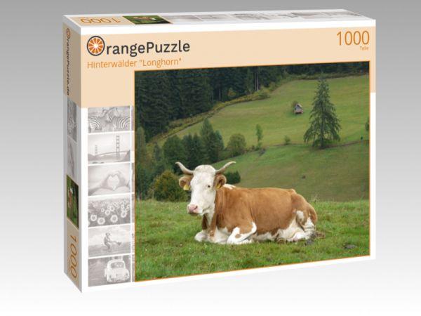 """Puzzle Motiv """"Hinterwälder """"Longhorn"""""""" - Puzzle-Schachtel zu 1000 Teile Puzzle"""