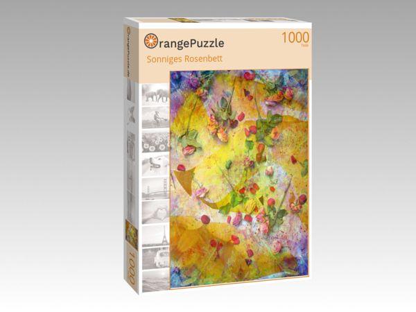 "Puzzle Motiv ""Sonniges Rosenbett"" - Puzzle-Schachtel zu 1000 Teile Puzzle"