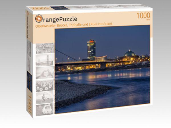 """Puzzle Motiv """"Oberkasseler Brücke, Tonhalle und ERGO-Hochhaus"""" - Puzzle-Schachtel zu 1000 Teile Puzzle"""