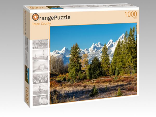 """Puzzle Motiv """"Teton County"""" - Puzzle-Schachtel zu 1000 Teile Puzzle"""