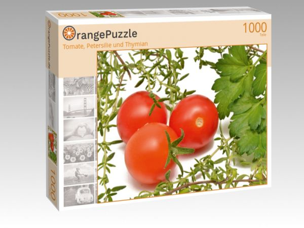 "Puzzle Motiv ""Tomate, Petersilie und Thymian"" - Puzzle-Schachtel zu 1000 Teile Puzzle"