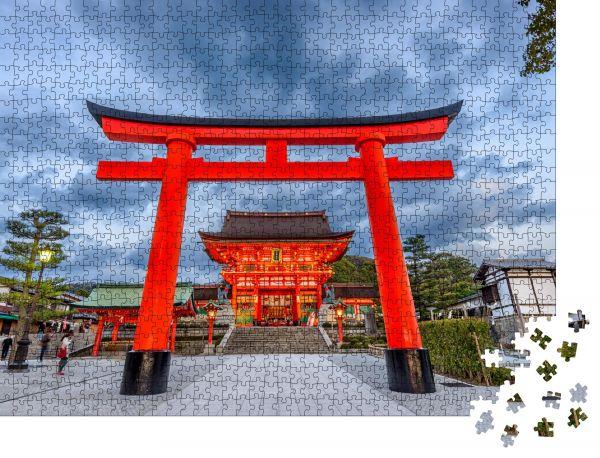 """Puzzle-Motiv """"Fushimi Inari-Schrein in Kyoto, Japan"""" - Puzzle-Schachtel zu 1000 Teile Puzzle"""