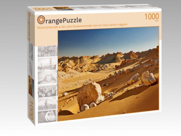 """Puzzle Motiv """"Wüstenlandschaft an der alten Karawanenstraße nahe der Oasa Dachla in Ägypten"""" - Puzzle-Schachtel zu 1000 Teile Puzzle"""