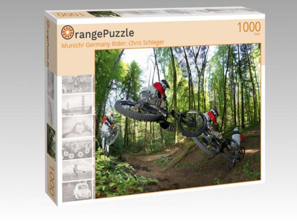 """Puzzle Motiv """"Munich/ Germany Rider: Chris Schleger"""" - Puzzle-Schachtel zu 1000 Teile Puzzle"""