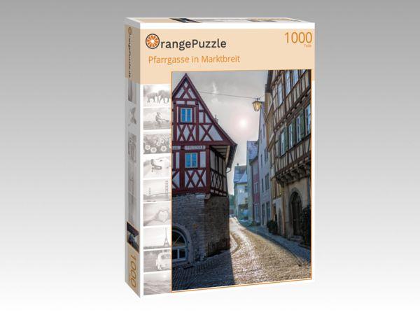 """Puzzle Motiv """"Pfarrgasse in Marktbreit"""" - Puzzle-Schachtel zu 1000 Teile Puzzle"""